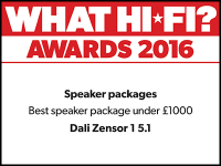 What Hi-Fi? Awards 2016 winner: DALI Zensor 1 5.1 speaker package
