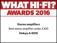 What Hi-Fi? Awards 2016 winner: Onkyo A9010 stereo amplifier