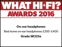 What Hi-Fi? Awards 2016 winner: Grado SR325e headphones