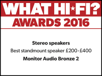 What Hi-Fi? Awards 2016 winner: Monitor Audio Bronze 2 speakers